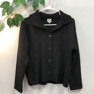 MARGARET O'LEARY | Black knit cardigan
